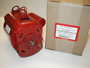 Bell Gossett 1 6 Hp Circulator Motor 111061 For 189120 189122 189165 4 5 8