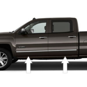 Chrome Side Door Trim Rocker Panel Molding Package For Chevy Silverado 14 17