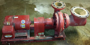 Bell Gossett 25 Hp Water Pump Model 5e 10bf J69 Electric Motor