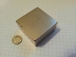 2 Large Neodymium Block Magnets N52 Grade Rare Earth Magnet Super Mag Damaged
