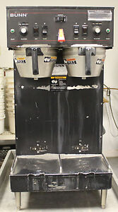 Bunn Thermofresh Sh Dual Coffee Brewer Soft Heat Black Urns servers Not Included