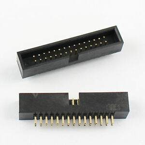 50pcs 1 27mm Pitch 2x15 Pin 30 Pin Dip Male Shrouded Box Header Idc Connector