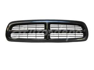 For 1997 2004 Dakota 1998 2003 Durango Grille Black Paintable