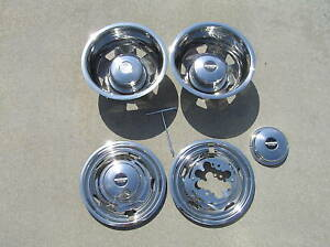 17 08 09 10 Chevy Gmc Dually Wheel Covers Bolt On