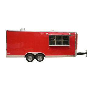 Concession Trailer 8 5 x20 Red Catering Food Event Vending