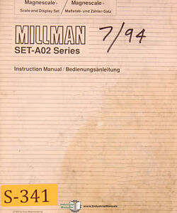 Sony Millman Set a02 Dro System Eng Ger Operations Maintenance Manual 1994
