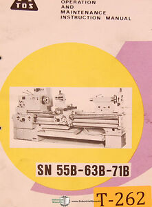 Tos Sn 55b 63b 71b Lathe Operating Instructions Maintenance Assembly Manual