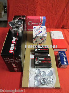 Chevy 350 Performer Engine Kit Pistons Moly Rings 1980 85 Bearings Head Bolts
