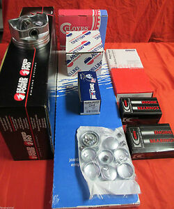 Chevy 350 5 7l Vortec Engine Kit Pistons Rings Timing Gasket Bearings Head Bolts