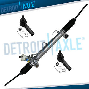 Power Steering Rack And Pinion 2 Outer Tie Rods For Buick Lesabre Pontiac