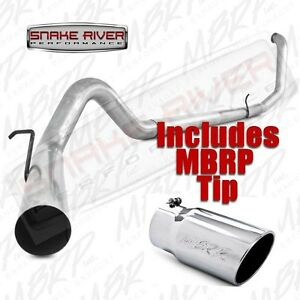 Mbrp 4 Exhaust 99 03 Ford Powerstroke Diesel 7 3l Straight Pipe W Stainless Tip