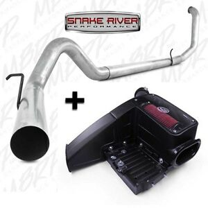 Mbrp 4 Exhaust W S b Intake 99 03 Ford Powerstroke Diesel 7 3l Straight Pipe