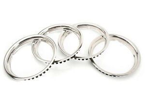 New Set Of 4 Polished Stainless Steel Trim Rings 1968 1980 Mgb W Rostyle Wheels