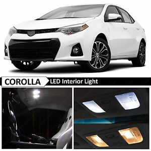 White Interior Map Dome Led Light Bulb Package Kit Fits Toyota Corolla 2015 2018