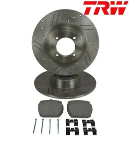 New Performance Trw Front Brake Kit Rotors Pads Hardware Mgb Mgb Gt 63 80