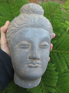 Astonishing Stone Large 22cm 4 5 Kg Buddha Head Gandhara Kingdom 100 300 Ad