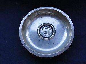 Memento Dish Sterling Silver Coin Middle Antique 1900 Northern Eastern Europe