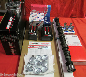 Chevy 350 Master Engine Kit 350hp Cam 1968 1979 Dbl Timing Pistons Head Bolts