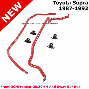 For Toyota Supra 87 92 Front Rear Anti Sway Bar Stabilizer Solid Steel Alloy