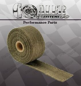 Titanium Exhaust header Heat Wrap 2 X 50 Roll