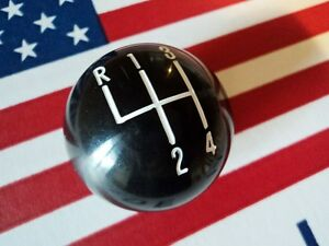 Black Shift Knob Ball 4 Speed 3 8 For Hurst Shifter Camaro Mustang Chevelle