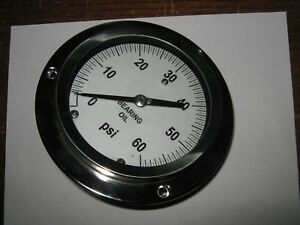 Unknown Manufacturer Pressure Gauge 0 60 Psi 5 Face Used
