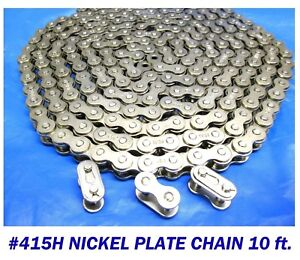 415h Chain Motorized Bicycle Nickel Plate 10 Ft Bulk Chain 3 Master Links