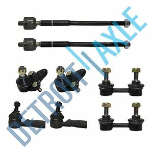 New 8pc 2 Inner Outer Tie Rod 2 Ball Joint 2 Sway Bar For Corolla Prizm