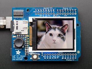 Adafruit 1 8 Color Tft Lcd Display Screen Arduino Shield W microsd And Joystick