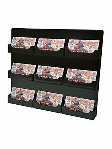 Lot Of 12 Black 9 Pocket Horizontal Business Card Holder Wall Mount Acrylic