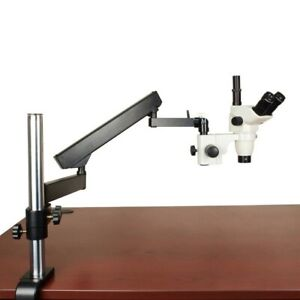 3 4 90x Trinocular Microscope articulating Stand barlow 4 Large Parts Inspection