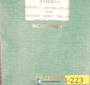 Ikegai At20zu J And At25zuj N c Lathes Operation Instruction Maintenance Manual