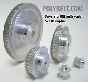68xl037 Aluminum Timing Belt Pulley 68 Tooth 3 8 Bore 2 Flanges 2 Set Screws