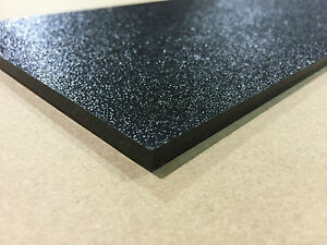 Abs Black Plastic Sheet 1 4 X 12 X 24 250 Haircell 1 Side 6mm Stereo
