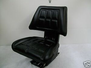 Black Trapezoid Suspension Seat farm Utility Compact Tractor forklift mower ay