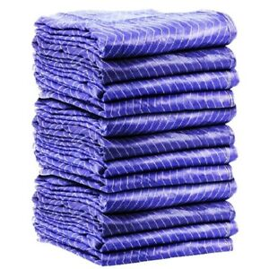 12pk Heavy Duty Moving Blanket Pro Quilted Pads 72 X 80 Furniture 69lbs dz