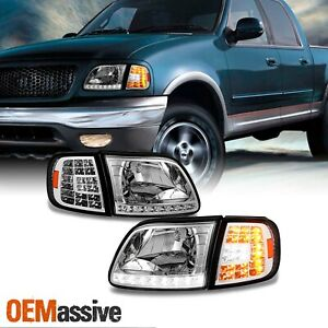 Fit 1997 2003 Ford F150 97 02 Expedition Headlights Led Corner Signal Lights