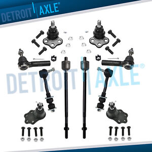 2000 2001 2002 2003 Dodge Durango Dakota 2wd Ball Joint Tierod Sway Bar Kit