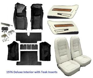 1976 Corvette Interior Package seat Covers And Kit Door Panels