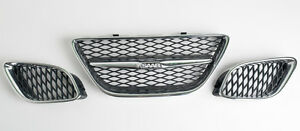 Hirsch Performance Mesh Chrome Grille Kit f?r SAAB YS3E 9-5 Sport K?hlergrill