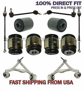 Lincoln Ls Rear Control Arms Ball Joint Tie Rod Hydrabushings Suspension Kit 12