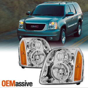 Fit 2007 2014 Gmc Yukon xl hybrid Replacement Headlights Headlamps L R
