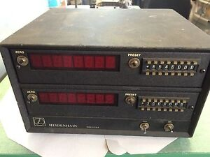 Used Heidenhain 62646 Dro Linear Scale Digital Readout 120vac Ce