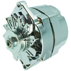 New Alternator Chrome 10si 110 Amp One Wire Bbc Sbc Chevy High Output 7127 Se