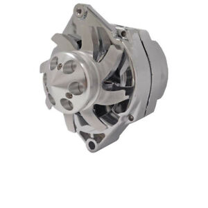 New Chrome Plated Hd Delco 10si Alternator V1 Billet Pulley Self Exciting 100amp