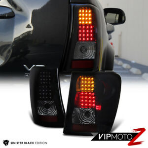 L r smoke black Led Tail Light Lamp For 99 04 Jeep Grand Cherokee Wj Wg