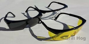 3 Pcs Yellow Safety Glasses Clear Tinted Goggles Eye Protection Smoke Shooters