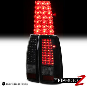 03 06 Chevy Silverado 1500 2500 sinister Black Smoke Led Rear Lamp Tail Light