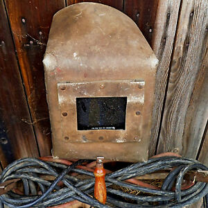 Welding Mask Vintage 1950 1960 ade Of Non combustible Board Russian
