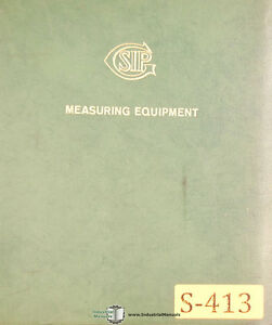 Sip Metrology Dimensional Measuring Equipment Manual Year 1963